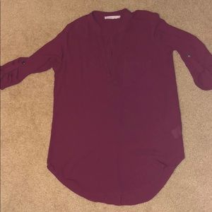 Semi-sheer tunic